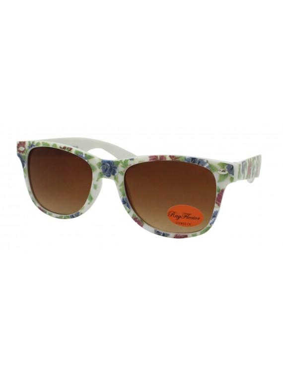 Kidi Flower Pattern Wayfarer Style Sunglasses, Kids Asst