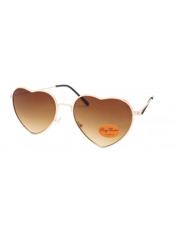 Kidi Risie Metal Frame Heart Shape Sunglasses, Kids Asst