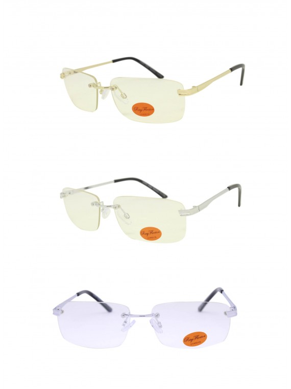Orgi Wrap Round Retro Sunglasses, Clear Lens Asst