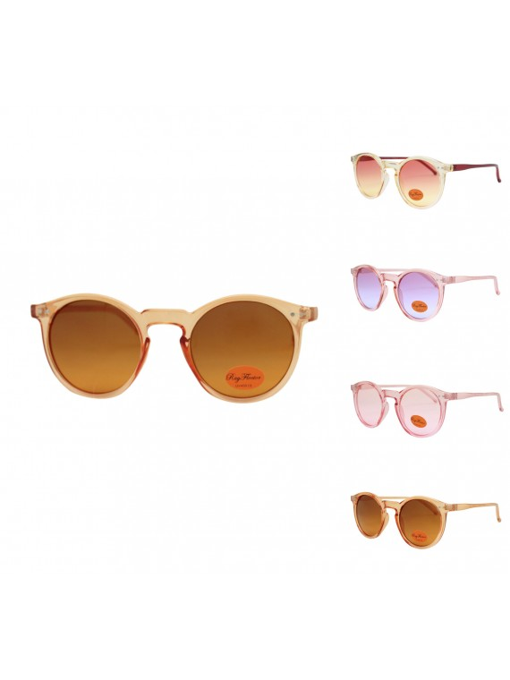 Pokie Retro Round Sunglasses Wholesale, Asst