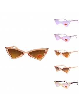 Corie Vintage Triangle Sunglasses, V2 Asst