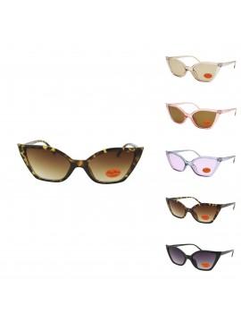 Hallie Vintage Cat Eye Style Sunglasses, Asst