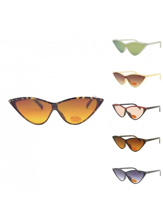 Nesta Retro Cat Eye Style Sunglasses, Asst