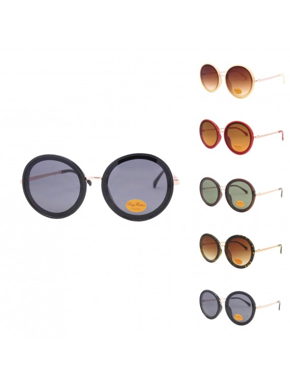 Tirsa Oversized Round Retro Sunglasses, Asst