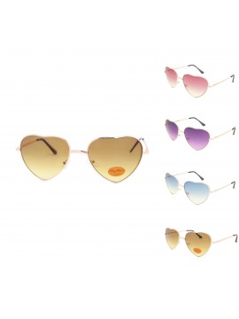 Classic Heart Shape Metal Frame Aviator Sunglasses Assorted(Version 2)