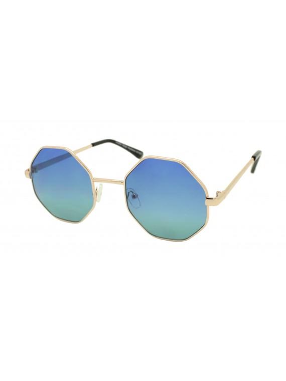 Tendy Octagon Frame Sunglasses, Asst