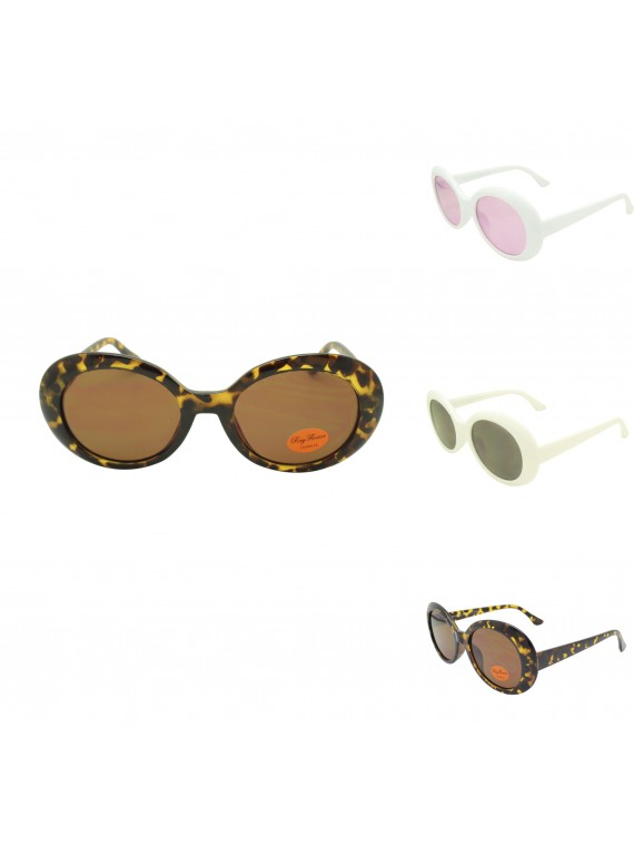Kurt Corbain Fashion Vintage Sunglasses, 3 Colors Asst