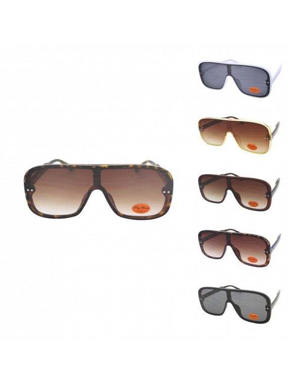 Gogie Flat Top Retro Sunglasses, Asst