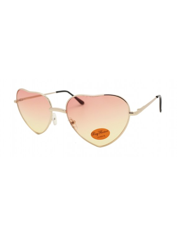 Nio Heart Shape Metal Frame Sunglasses