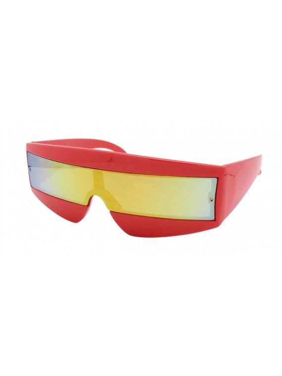 Robo Cop Wrap Around Sport Party Sunglasses, Neon Color Asst