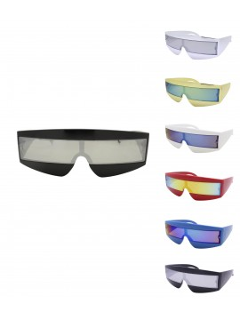 Robo Cop Wrap Around Sport, Party Sunglasses Asst