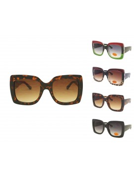Lex Colorful Lens Oversized Fashion Sunglasses, Asst