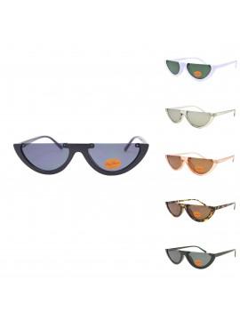 Agnese Flat Top Vintage Sunglasses, Asst
