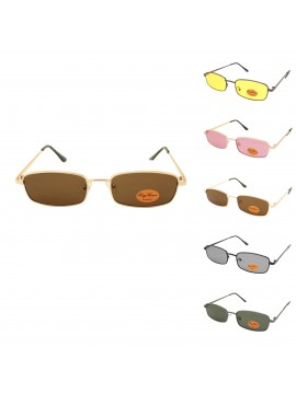 Milber Metal Frame Retro Sunglasses, Asst