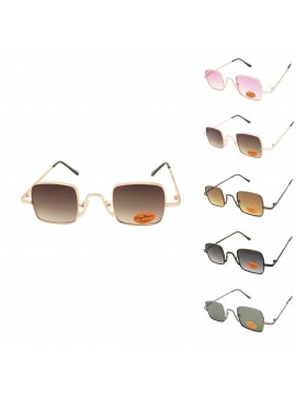 Chev Metal Frame Retro Sunglasses, Asst