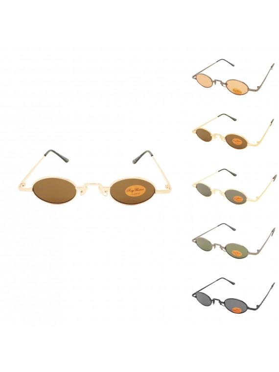 Waltz Metal Frame Vintage Sunglasses, Asst
