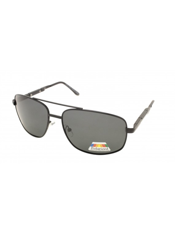 Herby Metal Frame Aviator Sunglasses, Polarized Asst