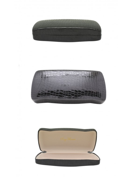 Menro Snake Pattern Sunglasses Case, Black