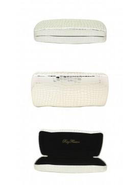 Menro Snake Pattern Sunglasses Case, Silver