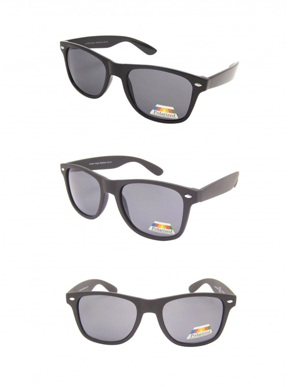 Erola Wayfarer Style Sunglasses, Polarised Asst