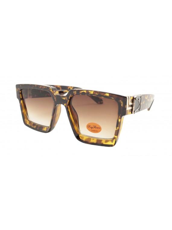Ladie Square Top Fashion Sunglasses, Tortoise Shell