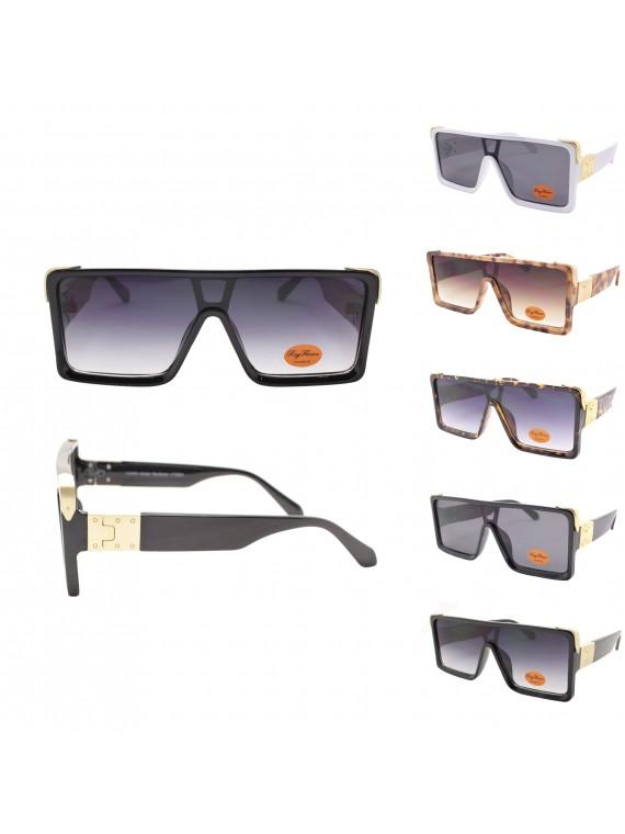 Gieo Flat Top Fashion Sunglasses, Asst