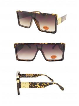 Gieo Flat Top Fashion Sunglasses, Tortoise Shell