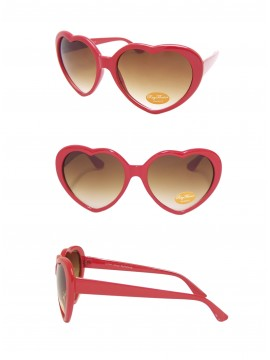 Heart Sunglasses, Red