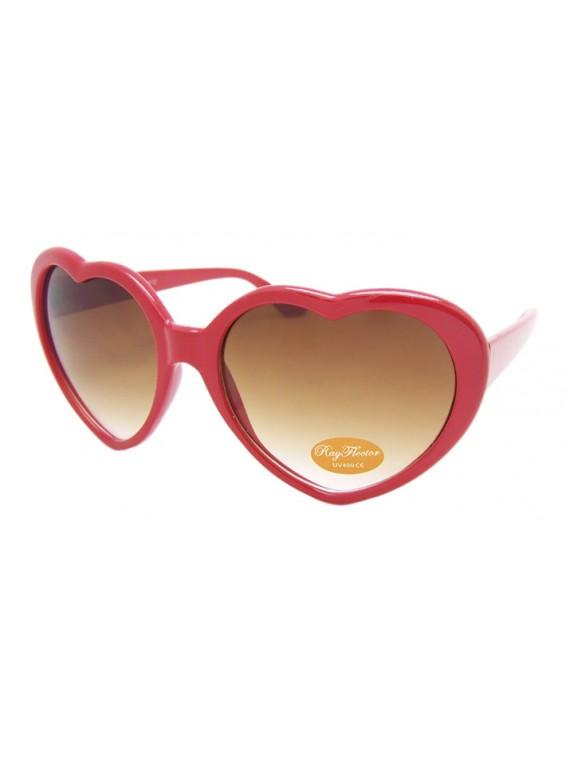 Heart Sunglasses, Red
