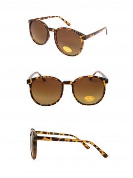 Eva Round Medium Size Vintage Sunglasses, Tortoise Shell (Gradient Lens)