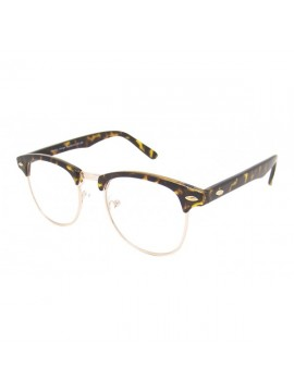 CLUBMASTER CLEAR LENS, TORTOISE SHELL  FRAME WITH GOLD COLOUR METAL SUNGLASSES