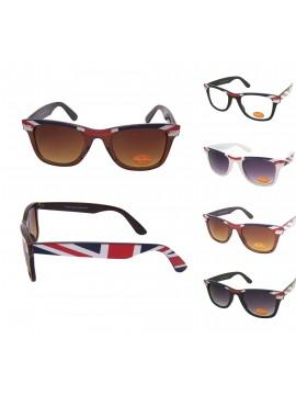 Classic Modern Wayfarer Style Sunglasses, British Flag Eyebrow Asst