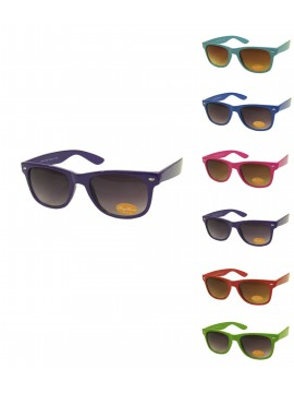 Classic Modern Wayfarer Style Sunglasses, Assorted Colours Set 2