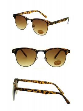 Classic Clubmaster Sunglasses, Dark Tortoise Shell