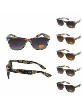 Orie Floral Wayfarers Style Sunglasses, Asst
