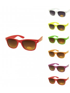 Classic Modern Wayfarer Style Sunglasses, Assorted Colours Set 1