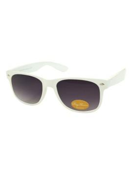 Classic Modern Wayfarer Style Sunglasses, Shiny White