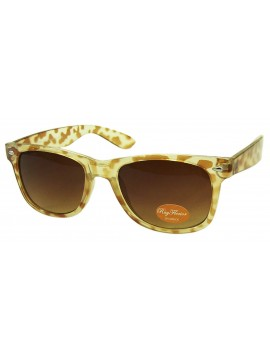 Classic Modern Wayfarer Style, Trans Cream with brown (Cream Tortoise Shell)