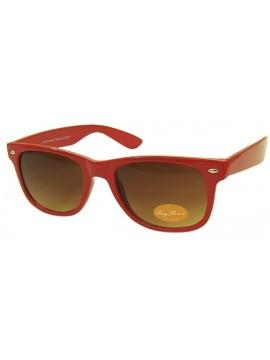 Classic Modern Wayfarer Style Sunglasses, Shiny Red