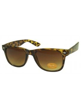 Classic Modern Wayfarer Style Sunglasses, Tortoise Shell