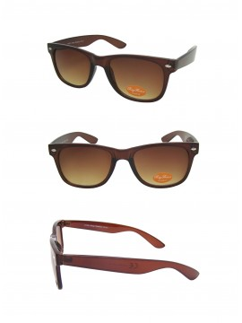 Classic Modern Wayfarer Style Sunglasses, Trans Brown