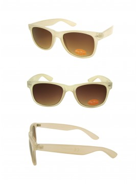 Classic Modern Wayfarer Sunglasses Style, Trans Beige