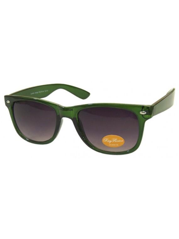 Classic Modern Wayfarer Style Sunglasses, Trans Green
