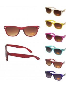 Classic Modern Wayfarer Style, Transparent Colours Asst