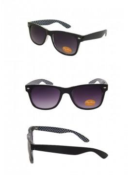 Classic Modern Wayfarer Style Sunglasses, Black Inner Frame Checkered