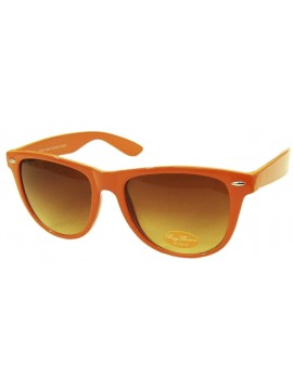 Classic Wayfarer Sunglasses, Orange - Bigger Size