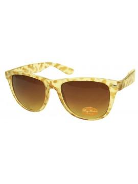 Classic Wayfarer Sunglasses, Cream Tortoise Shell - Bigger Size