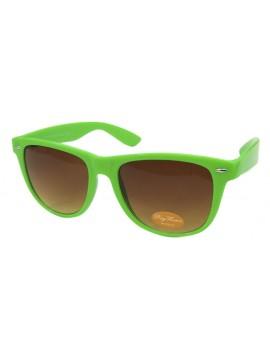 Classic Wayfarer Sunglasses, Neon Green - Bigger Size