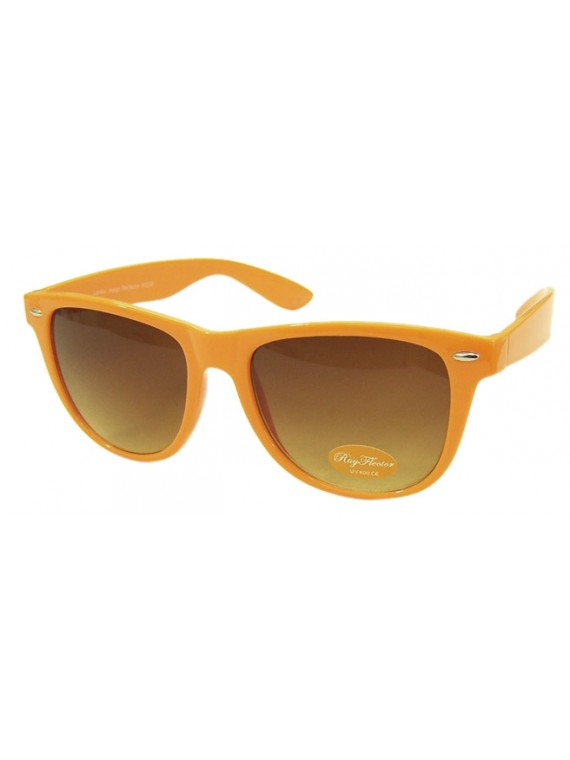 Classic Wayfarer Sunglasses, Neon Orange - Bigger Size