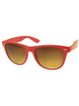 Classic Wayfarer Sunglasses, Neon Red - Bigger Size